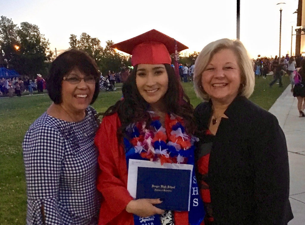 Marcy with graduating student